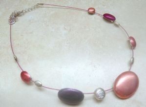 Enamel Ovals Adjustable Length Necklace By Ikita.